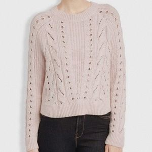 • LUCKY BRAND • pink knit scoop neck sweater